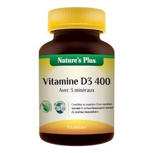 Vitamine D3 400 NATURE'S PLUS